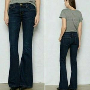 Current Elliot the low bell darkwash flare jeans
